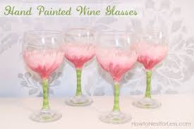 painted flower wine glasses how to nest for less