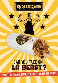 Challenge La Beast La Beast 14 Inches Of Burrito Challenge Picture Of El