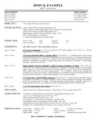 Sample Objectives In Resume For Job by Airline Pilot Hiring Example Resume