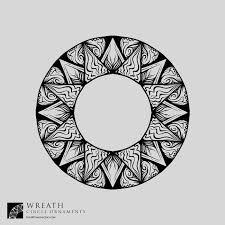 wreaths circle ornaments vectors