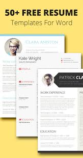 Resume Sample In Ms Word by 68 Best Free Resume Templates For Word Images On Pinterest