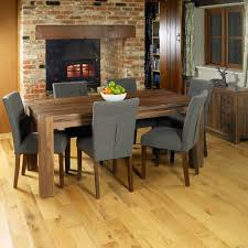 modern dining table and chairs uk baumhaus mayan walnut dining table seats 8 people amazon co uk