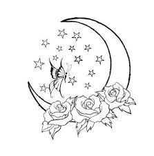 crescent moon tattoo no flowers or stars tatueringar