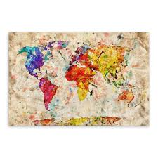 World Map Wall Decal by New Colourful Vintage World Map Wall Sticker Travel Nuts