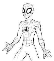 coloring pages mesmerizing spiderman drawings kids coloring