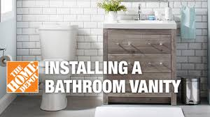 Easy Bathroom Updates by Installing A Bathroom Vanity Easy Bath Updates Youtube