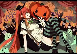 graphic design halloween desktop background vocaloid hatsune miku twintails chess thigh highs orange hair
