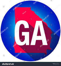 Ga Usa Map by Georgia Ga Letters On 3d Map Stock Illustration 353469809