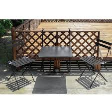 living express 3 piece outdoor balcony folding bistro set u2013 living