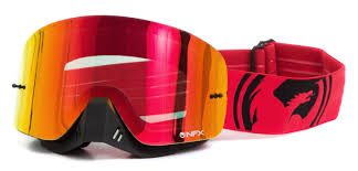 dragon motocross goggles dragon alliance crossbrille nfx red black split red ionisiert