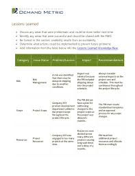 project analysis report template post project evaluation template