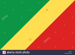 Red Orange Flag Flagge Der Republik Kongo Kongo Flag Of The Republic Of The