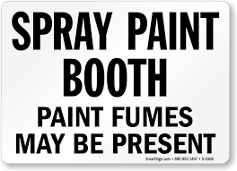 photo booth sign spray paint booth chemical hazard sign sku s 0368