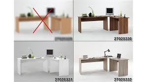 Tisch Schreibtisch Kombi Till Pc Tisch Winkelkombination In Weiß