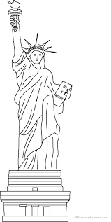 statue liberty coloring print enchantedlearning