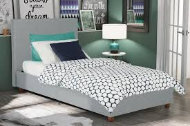 dorel home furnishings alexander light grey twin linen upholstered