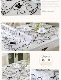 custom made tablecloths waterproof soft crystal plate glass table