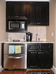 kitchen black distressed kitchen cabinet with sink for small