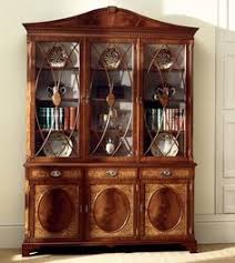 3 Door Display Cabinet Mahogany Display Cabinet With Glass Shelving And Cupboard Storage