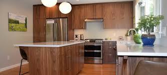modern wood slab kitchen cabinets contemporary walnut kitchen cabinetry