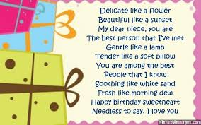 birthday poems for niece u2013 wishesmessages com