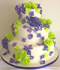wedding cakes pictures purple u0026 green round wedding cakes