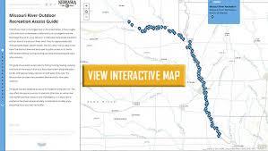 map of missouri river missouri river outdoor recreation access guide nebraska and