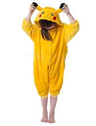 Halloween Costumes Pikachu Kigurumi Pajama Pikachu Onesie Kids Yellow Christmas Jumpsuit