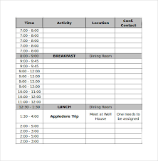 sample conference agenda it free agenda template word conference