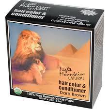 light mountain natural hair color black light mountain organic hair color conditioner dark brown 4 oz