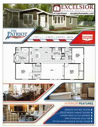 Free Modular Home Floor Plans Schult Patriot Manufactured Home Excelsior Homes