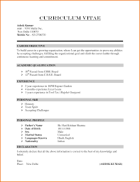 Best Resume Format 1 Year Experience by 6 Formal Cv Format Sample Financial Statement Form