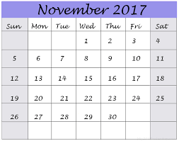 calendar november 2016 to november 2017