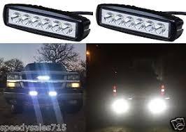 led bumper backup lights pair 6 18w led bumper reverse lights spot flood work offroad new