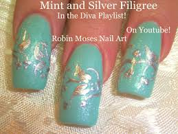 3 nail art tutorials diy easy winter nail design mint and