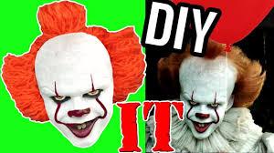homemade costume it clown wig diy for halloween youtube