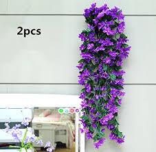 Silk Flower Plants - violet silk flowers amazon com