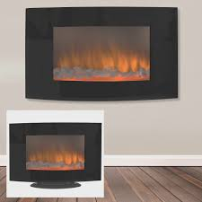 fireplace simple wall mounted glass fireplace decorate ideas