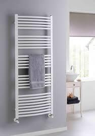 Kitchen Radiator Ideas The Radiator Company Poppy Curved White Heated Towel Rail Is One
