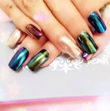 magic metallic pigment nail mirror effect rainbow glitter color