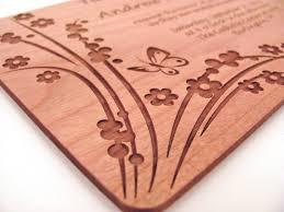 einladungen h lzerne hochzeit hölzerne hochzeit einladung echtholz einladung floral