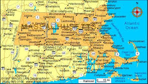 massachusetts road map map of massachusetts which is the 6th state to enter the union