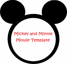 template minnie mouse head