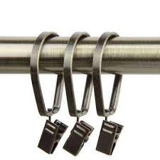 Drapery Clips Without Rings Curtain Rings U0026 Clips Curtain Rods U0026 Hardware The Home Depot