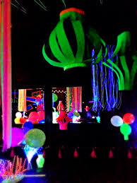 glow in the decorations paper lanterns from neon poster board glow party decorations