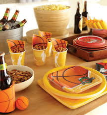 basketball party table decorations march madness party ideas party galore pinterest madness