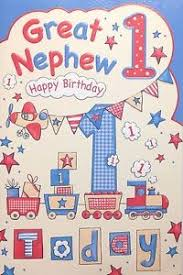 great nephew age 1 1st birthday card beautiful detail made in
