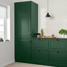 green kitchen cabinets bodbyn door green 24x30