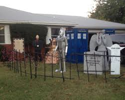 dr who yard decorations made my night doctorwho