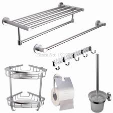 5 Piece Bathroom Set by Steel 5 Piece Bathroom Accessories Kit Brushed Hardware Set Towel
